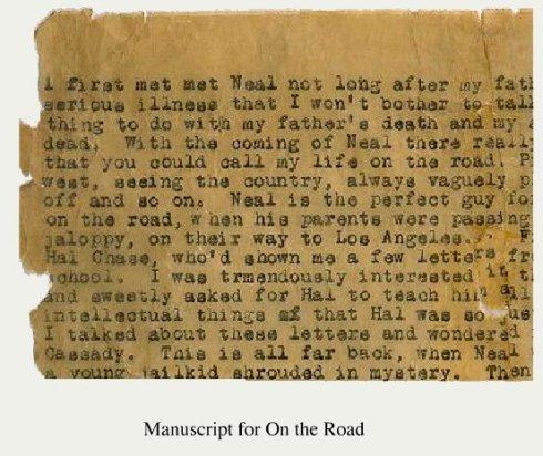 Original_Manuscript page from Jack Kerouac
