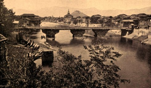 Srinagar-4th Bridge-Hari Prabat-19th-century