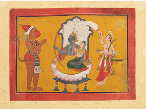 25_Hanuman playing hommage to Rama