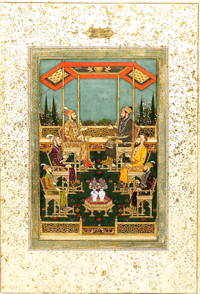 30_Darbar Scene with 4 sons and 2 grandsons of Sha Jahan