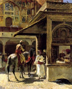 Hindu Merchants Oil on canvas