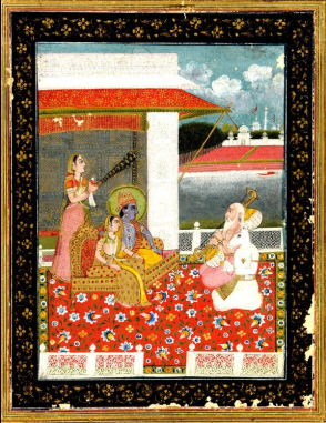 Sri_Raga_recital_to_Krishna-Radha,_19th_century