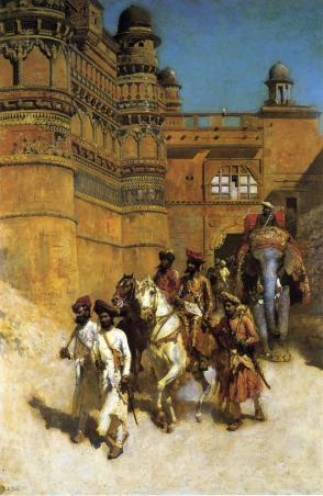 The Maharahaj of Gwalior Before His Palace c.1887