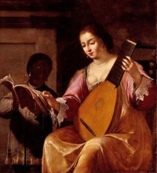 e-jean-daret--1613-1668-woman-playing-lute-