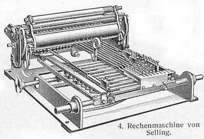 A drawing of Selling's multiplication machine