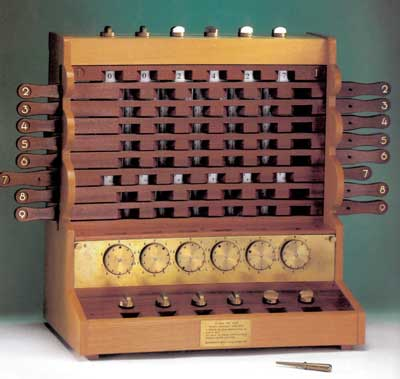 A replica of the Schickard's machine, created by Bruno v. Freytag Löringhoff in 1960 (Universität Tübingen)