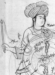 from medieval manuscript by Qutb al-Din al-Shirazi