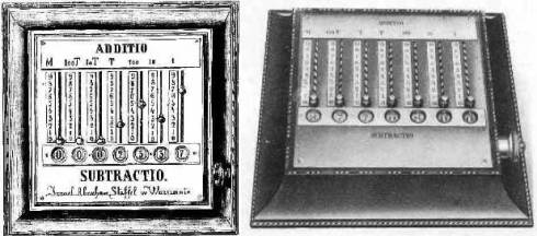 StaffelMachineAddSub_adding machine (from the magazine Tygodnik Ilustrowany, 1867)