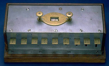 The calculating machine of Victor Schilt (Courtesy of the Smithsonian Institution)