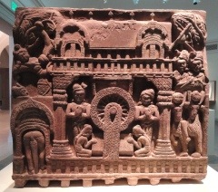 A_Royal_Couple_Visits_the_Buddha,_from_railing_of_the_Bharhut_Stupa,_Shunga_dynasty,_early_2nd_century_BC,_Bharhut,_Madhya_Pradesh,_India,_sandstone_-_Freer_Gallery