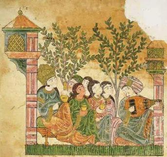Extract from a scene of music (Hadith Bayâd wa Riyâdh), 13th century