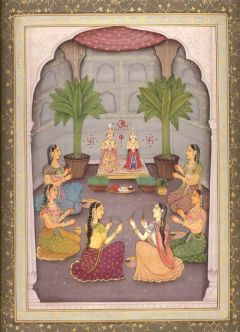 Rajputana-gangaur-puja-painting