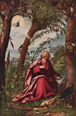 Saint John on Patmos, 1518_by_Hans Burgkmair