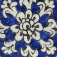 A Persian Qajar Pottery Tile with Star, Tehran, 19th C