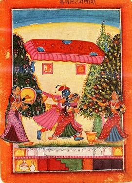 Vasant Ragini, Rajasthan, 17th century
