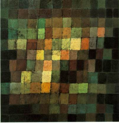 Paul Klee - Ancient Sound,-Abstract on Black - 1925